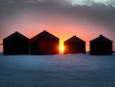 The sun beams ...