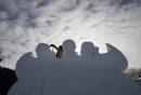 snow sculpture ...