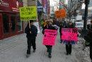 Protestors ...