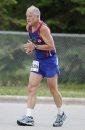 A runner slogs ...