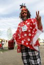 Tony DeRose has a different outfit for every day of the 40th annual Winnipeg Folk Festival at Birds Hill Provincial Park. He's been coming for the past 17 years, he says. Friday, July 12, 2013. (JESSICA BURTNICK/WINNIPEG FREE PRESS)