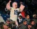 A fan dressed ...