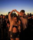 Festival goers ...