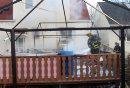 A deck fire ...