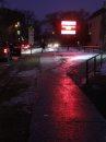 Icy sidewalk ...