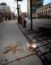 Downtown trash ...