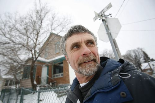 January 13, 2011 - 110113  -  On Thursday, January 13, 2011 Terry Woods is photographed on Grove Street, the North End street he is planning to move to once his home is built.  Woods has bought an empty lot in the North End which he plans to build a home on this summer and live in. John Woods / Winnipeg Free Press