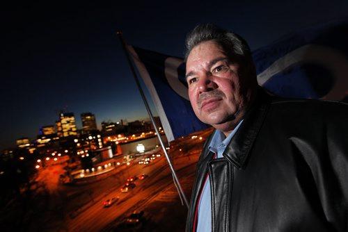 Winnipeg, Manitoba -  David Chartrand, President of the Manitoba Metis Federation poses for a photo in Winnipeg Thursday, February 10, 2011.   (John Woods/Winnipeg Free Press)