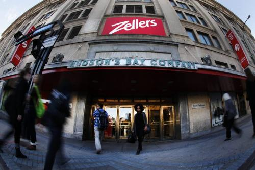 Zellers in the Bay downtown has been passed over as a Target location. Photographed Friday, September 23, 2011. (John Woods/Winnipeg Free Press)