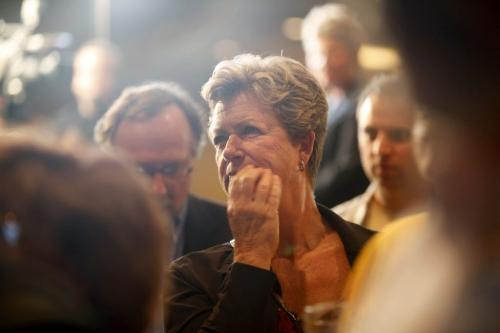 A NDP party supporter looks concerned as she watches the results at the NDP party headquarters at the Convention Centre on Election Night. Election Coverage, See Bruce Owen's story Oct 4, 2011 Ruth Bonneville  Winnipeg Free Press