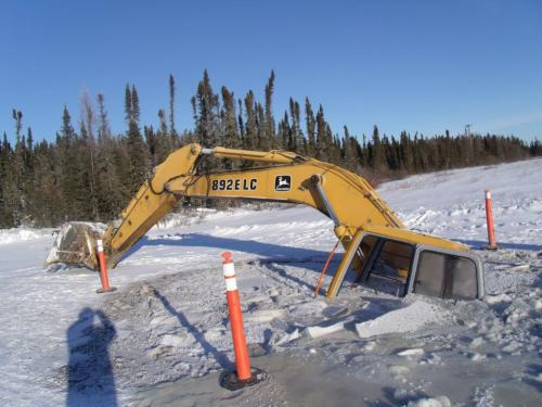 "Please find attached the January 11, 2012 MKO Press Release, ""MANITOBA REMOTE FIRST NATIONS DECLARE STATE OF EMERGENCY ON WINTER ROADS: CITE CLIMATE CHANGE AND GOVERNMENT INACTION"".  Please also find attached several JPEG images of road-building equipment that has gone through the ice.  These pictures are:   1.    A John Deere Model 892 E LC excavator operated by the Manto Sipi Cree Nation (God's River Manitoba) that has gone through the ice; and   2.    A Caterpillar Model D4 bulldozer operated by the Garden Hill First Nation that has gone through the ice at a location known as First Creek. Please also send all of the attached JPEG images to all media as an attachment to the distribution of the press release.  Regards,  Michael Anderson Research Director Manitoba Keewatinowi Okimakanak, Inc.  Natural Resources Secretariat  for winnipeg free press"