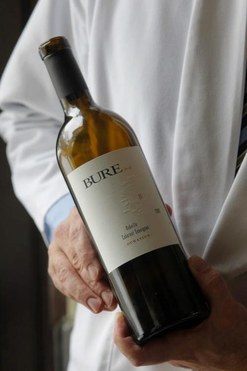 Valeri Bure, former sniper with the Calgary Flames and Florida Panthers, is in town doing some promotional work with his wine company, Bure Family Wines in California. Some of his wine.  March 2, 2012  BORIS MINKEVICH / WINNIPEG FREE PRESS