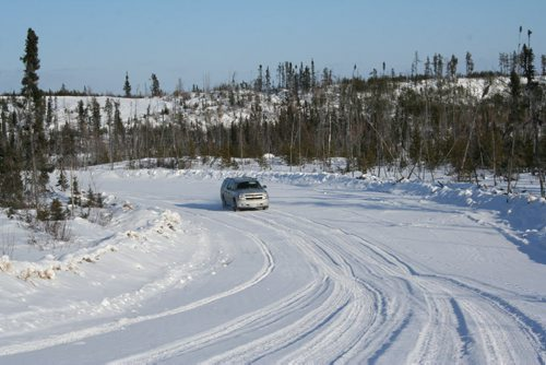 The 2012 Chevrolet Suburban Jay McLeod rented for the journey was up for the winding winter road. The entire trip down the winter road was akin to a winter roller-coaster. 2012 Paul Williamson / Winnipeg Free Press