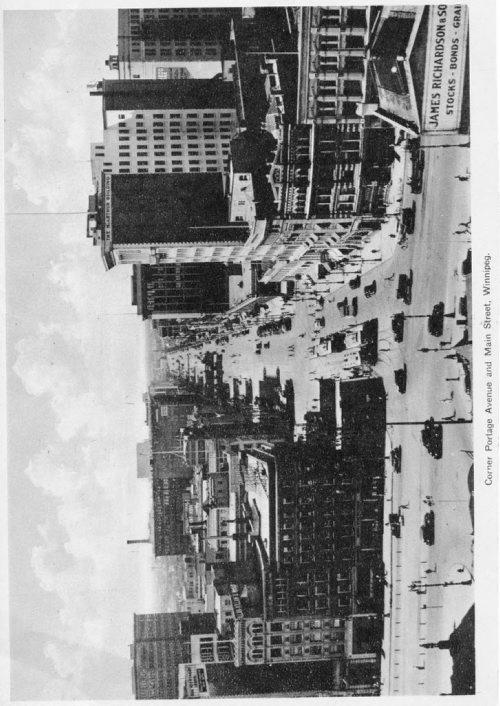 Winnipeg Free Press Archives Portage Avenue and Main Street PortageMain January 25, 1956 Corner of Portage Avenue and Main Street, looking west down Portage.