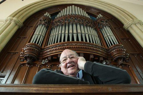 Organist Barry Anderson retires after 60 years of playing at Knox United Church– See Brenda Suderman Faith column- June 12, 2012   (JOE BRYKSA / WINNIPEG FREE PRESS)