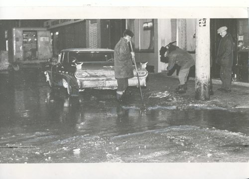 Winnipeg Free Press Archives Winnipeg Blizzard (1) March 5, 1966 Broken watermain floods Carlton and Portage fparchive