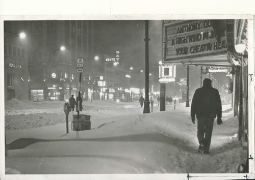 Jack Ablett/Winnipeg Free Press Archives Winnipeg Blizzard (16) March 5, 1966 Winnipeggers Take Crisis In Stride ...on Winnipeg streets that looked Ilke THIS... fparchive