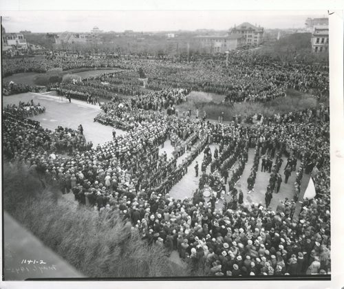 Winnipeg Free Press Archives If Day - World War II - (4) July 13, 1970 Second World War crowd scene, Legislative Grounds, 1942 fparchive