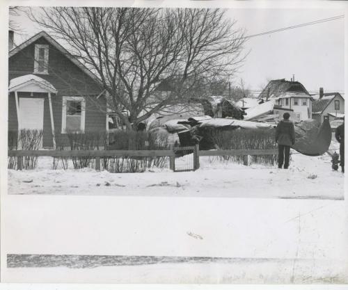 Winnipeg Free Press Archives St. James air crash Feb. 18 1957