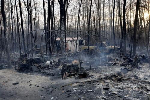 Vita Manitoba wild fires. Property in Vita destroyed. OCTOBER 2, 2012  BORIS MINKEVICH / WINNIPEG FREE PRESS