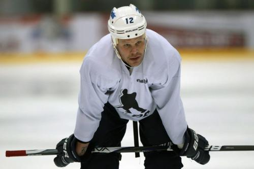 Winnipeg Jet Olli Jokinen at MTS Iceplex in Winnipeg Monday skating with his teammates - a welcome sight to fans after the NHL 117 day lockout – See Ed Tait story- January 07, 2013   (JOE BRYKSA / WINNIPEG FREE PRESS)