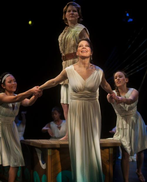 Royal Manitoba Theatre Centre production of Penelopiad, a play by Margaret Atwood, opens February 21, 2013. Jennifer Lyon stars as Penelope (centre) and Sarah Constible as Odysseus (top (Melissa Tait / Winnipeg Free Press)