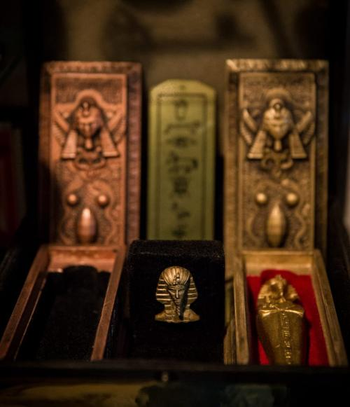 Pieces inside Steve Chmara's magic collection room where he has hundreds of working and collectable magic pieces, including some from the British Victorian era. 130321 - Thursday, March 21, 2013 - (Melissa Tait / Winnipeg Free Press)