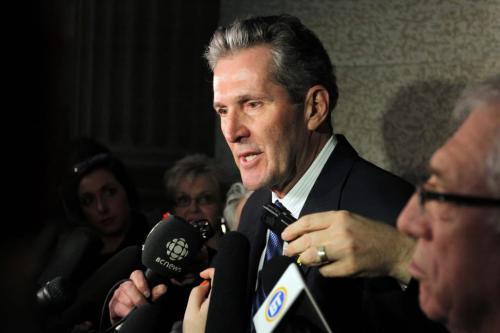 2013 BUDGET - Opposition leader Brian Pallister is not happy with the NDP budget. April 16, 2013  BORIS MINKEVICH / WINNIPEG FREE PRESS