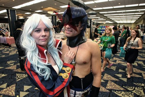 David Wildeman and Melissa Wiks dressed as characters, Simon and Nia, from the anime series Tengen Toppa Gurren Lagann attend the Ai-Kon convention which took place this weekend at the Convention Centre. 130714 July 14, 2013 Mike Deal / Winnipeg Free Press
