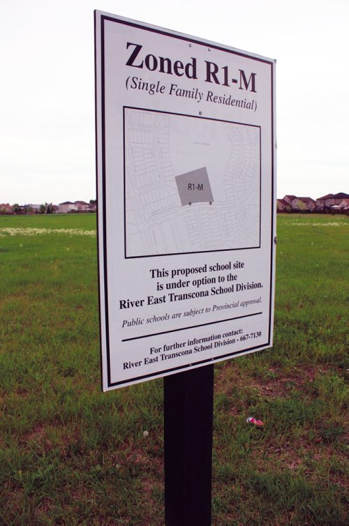 Canstar Community News Aug. 18, 2013 - The River East Transcona School Division has land under option to it along Edmund Gale Drive in Canterbury Park. The division recently declined options in Harbour View South. (DAN FALLOON/CANSTAR COMMUNITY NEWS/HERALD)