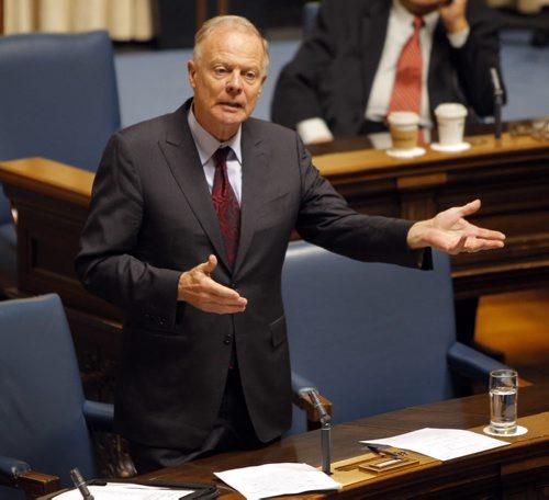 Manitoba Legislature last question period. Jon Gerrard. BORIS MINKEVICH / WINNIPEG FREE PRESS. Sept. 13, 2013