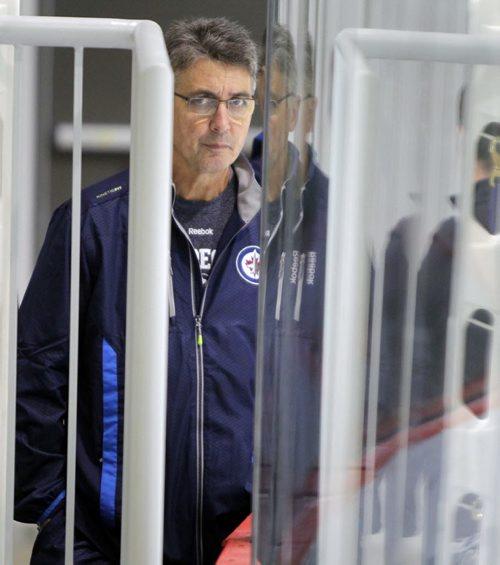 Winnipeg Jets NHL practice at the MTS IcePlex. Head coach Claude Noel. BORIS MINKEVICH / WINNIPEG FREE PRESS. Sept. 16, 2013