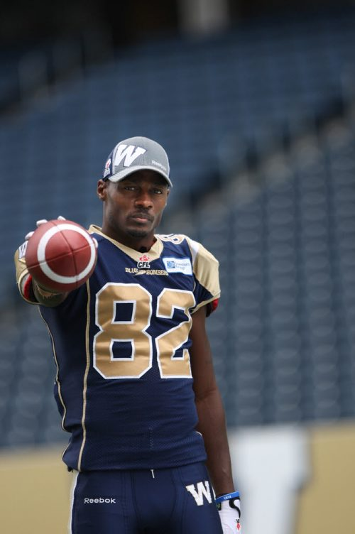 Winnipeg Blue Bombers Terrence Edwards- for game day Bombers wrap-See Paul Wiecek story- Sept 19, 2013   (JOE BRYKSA / WINNIPEG FREE PRESS)