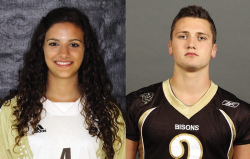 Canstar Community News 3/10/2013- Daniella Scerbo and Connor Lesperance named Bison athletes of the week. Scerbo, a soccer forward, is in the faculty of nursing, and Lesperance, a defencive back, is in the U of M Asper School of Business. (SUPPLIED PHOTO)