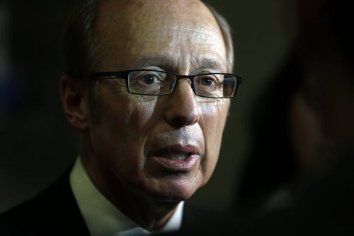 City Hall fire hall scandal continues with Mayor Sam Katz  getting grilled by media over handling of firings , police station over runs - KEN GIGLIOTTI / Oct. 24 2013 / WINNIPEG FREE PRESS