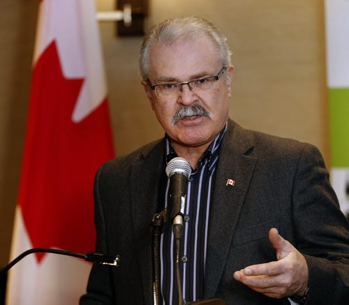 Federal Agriculture minister Gerry Ritz  was in Wpg to announce support of Canada's grain logistics system ,Story by  martin cashFEB. 3 2014 / KEN GIGLIOTTI / WINNIPEG FREE PRESS