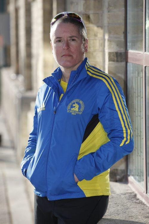 April 15, 2014 - 140515  -  Boston Marathon runner Julie Whelen for a Lawless story. Photographed Tuesday, April 15, 2014. John Woods / Winnipeg Free Press