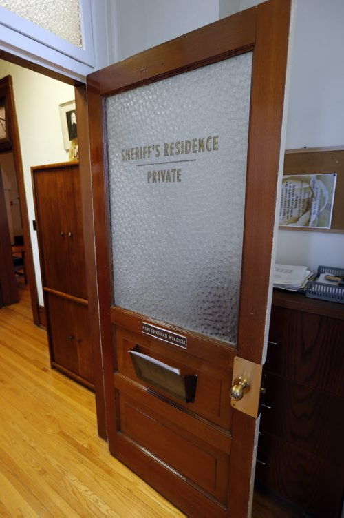 Her office door with Sherriffu0027s Residence left over from the movie shoot Capote & The Winnipeg Free Press Store