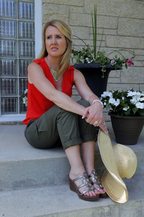 LOCAL NEWS - SKIN CANCER - Ellen Dueck had skin cancer that later spread. It's in remission right now. BORIS MINKEVICH / WINNIPEG FREE PRESS  May 28, 2014