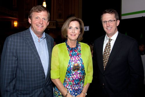 JOHN JOHNSTON / WINNIPEG FREE PRESS  Social Page for May 31st, 2014  Junior Achievement Manitoba Business Hall of Fame Awards – Met (L-R) Jeoff Chipman, Susan Millican and Mark Chipman