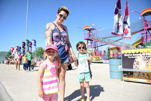 Julie Desorches and her daughters Chloe and Molly at the Red River Ex. Sarah Taylor / Winnipeg Free Press