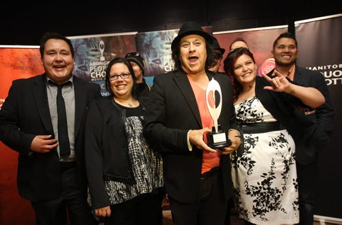 Part of the Manito Ahbee Festival the Aboriginal Peoples Choice Music Awards- Indian City-  Aboriginal Song Writer of the Year-Standup Photo- Sept 12, 2014   (JOE BRYKSA / WINNIPEG FREE PRESS)