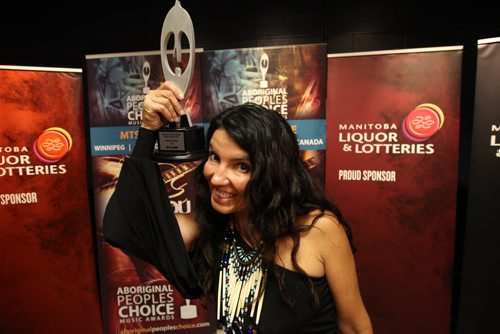 Part of the Manito Ahbee Festival the Aboriginal Peoples Choice Music Awards- Shy-Anne won best country CD , Aboriginal Entertainer of the Year, Best Albumn Cover Design, and Single of the Year-Standup Photo- Sept 12, 2014   (JOE BRYKSA / WINNIPEG FREE PRESS)