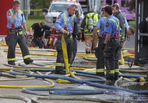 City of Winnipeg Margaret Grant Pool fire scene. BORIS MINKEVICH / WINNIPEG FREE PRESS  Sept. 16, 2014