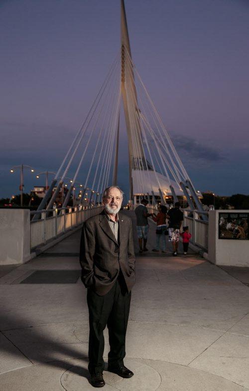 Etienne Gaboury - photographed at the Esplanade Riel August 2014 Melissa Tait / Winnipeg Free Press