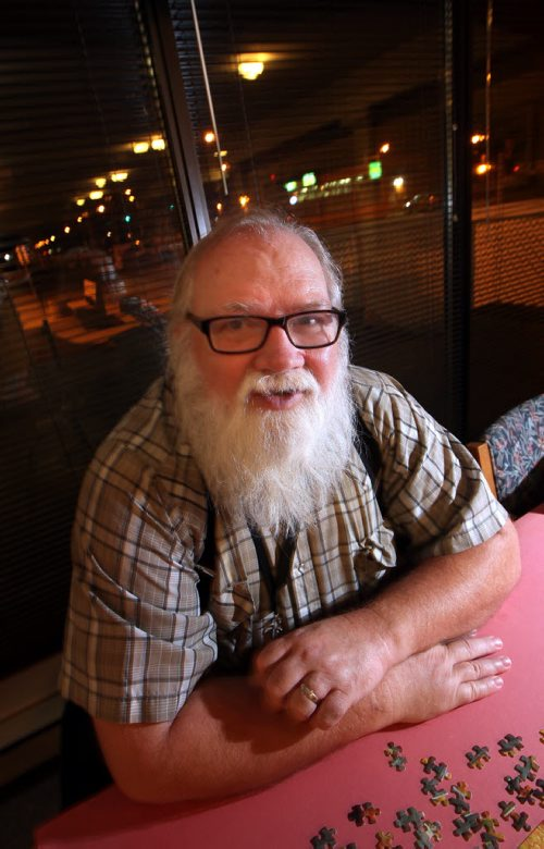63 yr old Bernie Krahn poses in his senior's complex Tuesday. He and his wife Beverly talked to Ashley Prest re: Winnipeg Harvest Report. See her story. Beverly did not want to be photographed and didn't want pictures in the apartment. November 4, 2014 - (Phil Hossack / Winnipeg Free Press)