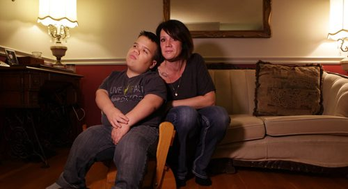 Lisa Funk's son David is a dwarf, family is filing a human rights complaint for the way he's allegedly treated at school in River East Transcona School Division and for the services the division is not providing for him.   Nov 6,  2014 Ruth Bonneville / Winnipeg Free Press