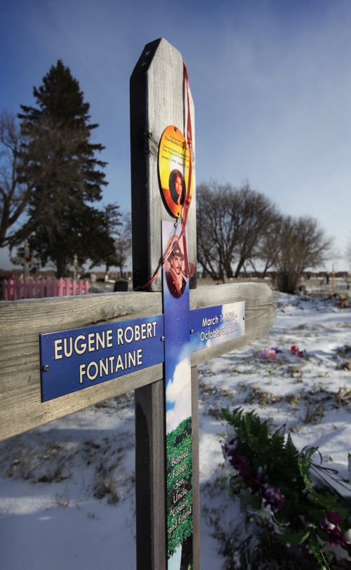 Covered in fresh fallen snow stands the gravesite and marker of Eugene Fontaine and his daughter Tina Fontaine — the Manitoba teenager whose death has prompted renewed calls for a national inquiry into missing and murdered aboriginal women after her body was found the the Red River in August of 2014.  Nov 26,  2014 Ruth Bonneville / Winnipeg Free Press