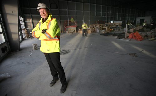 Rene Nicholson, director of property for Birchwood Automotive Group, poses at its new $6-million used car reconditioning centre being built on Portage ave outside the Perimeter Highway in Headingly. See Geoff Kirbyson story. December 1, 2014 - (Phil Hossack / Winnipeg Free Press)