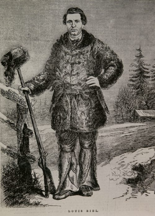 Drawing of Louis Riel, c1870 Archives of Manitoba